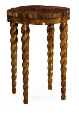 Walnut Barleytwist Quatrefoil Side Table main image