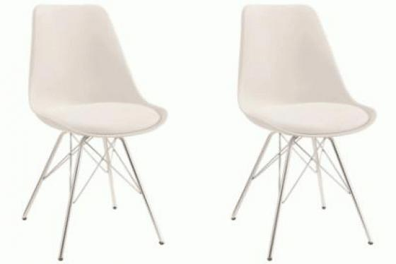 White Lowry Dining Chairs main image