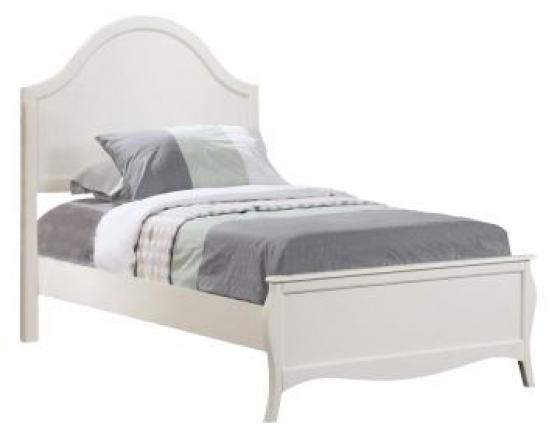 Dominique Twin Youth Panel Bed in White main image