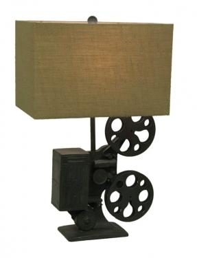Movie Time Gray Metal Novelty Table Lamp main image