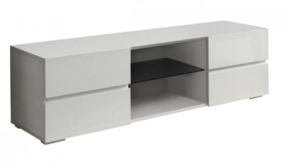 Glossy White Tv Console main image