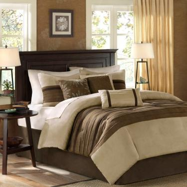 Palmer 7 Piece Comforter Set - Natural - Queen main image
