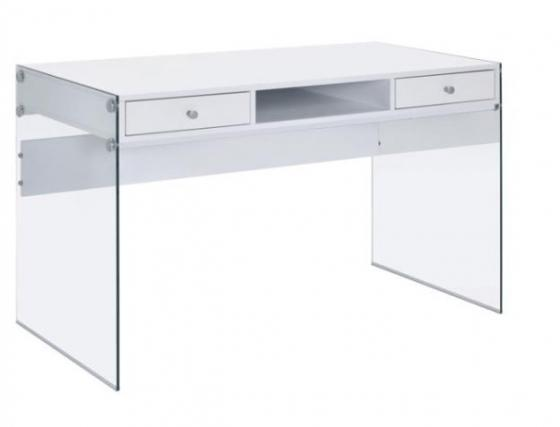 White High Gloss Writing Desk main image