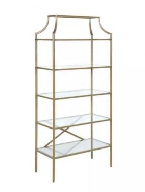 5 Tier Bookshelf With Glass Shelves main image