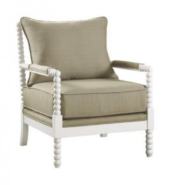 Beige Fabric Accent Chair main image