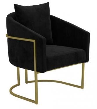 Black Barrel Accent Chair