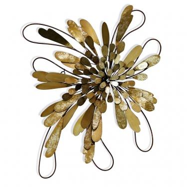 Blooming Brass Leaflet | Metal Wall Sculpture main image