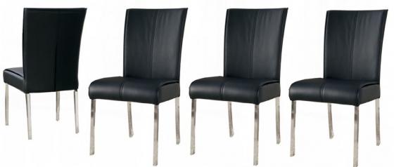 Set of 4 Black Upholstered Side Chair (Set of 4) main image