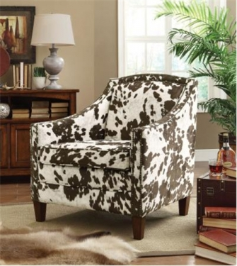 COW PATTERNED ACCENT CHAIR  main image