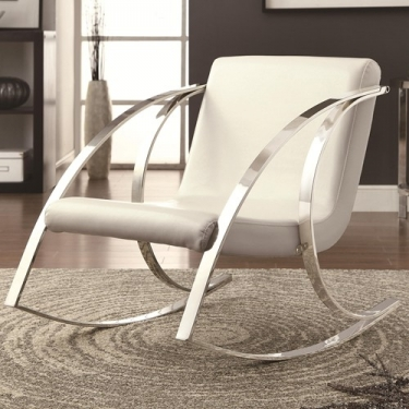 WHITE ACCENT ROCKING  CHAIR  main image