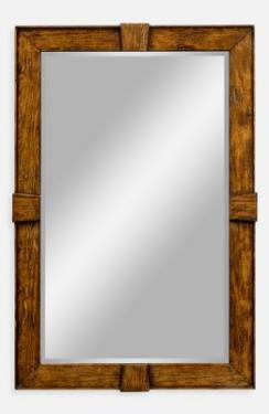 Country walnut rectangular mirror main image