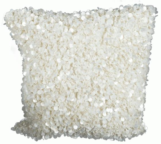 White SequinShag Pillow main image