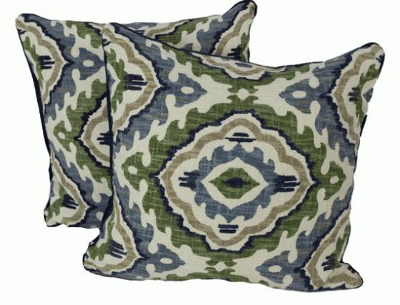 Blue Green Pattern Pillows main image