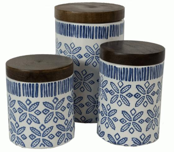 Blue Pattern Storage Canisters main image
