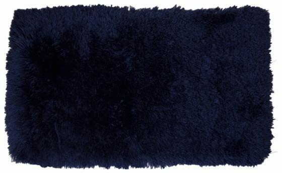 Fuzzy Blue Bathroom Rug  3'11x2'4 main image