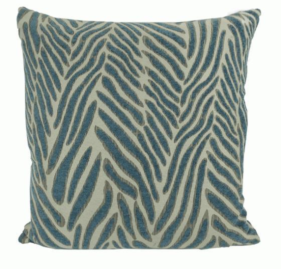 Blue Zebra Pillow main image