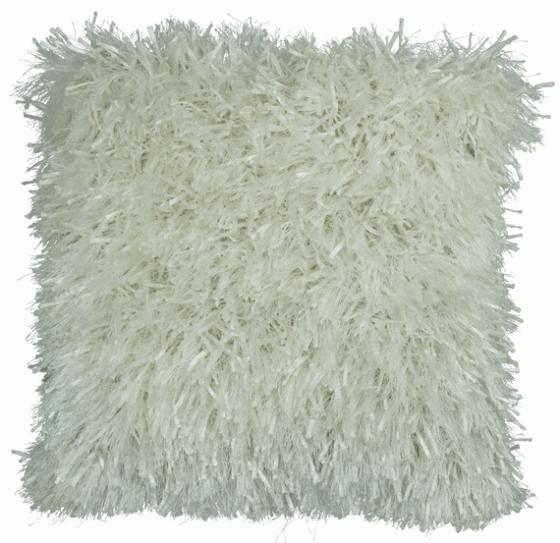 Soft White Thread Shag Pillow main image