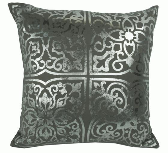 Metallic/Grey Pattern Pillow main image
