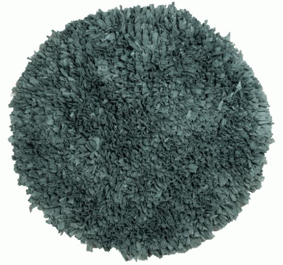 Round Teal Bathmat Rug 2'11x2'11 main image