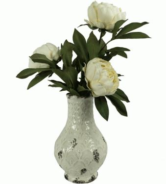 White Vase with Flowers main image