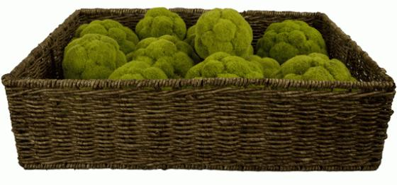 Basket with 12 Moss Balls main image