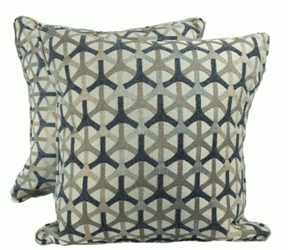 Blue and Brown Link Pattern Pillows main image