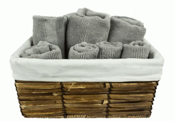 Grey and White Towels Set  main image