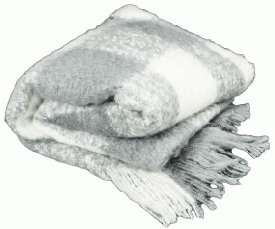 Grey Plaid Throw  main image
