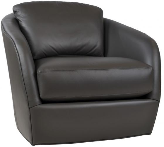 Grey Leather Swivel Chair main image