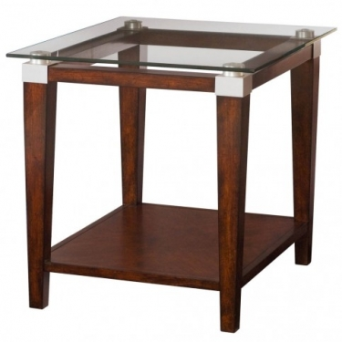 Glass Top Rectangular End Table  main image