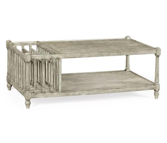 JC Rustic Grey Coffee Table With Magazine Rack main image