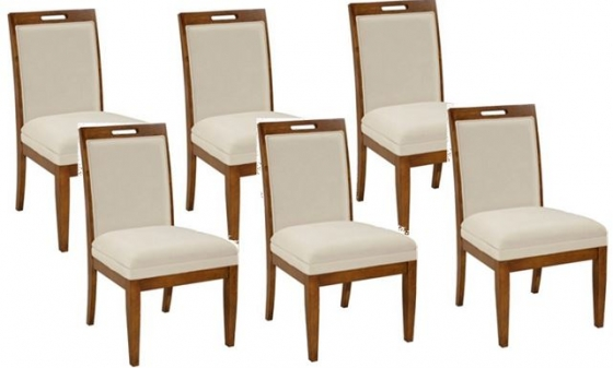 Suede Dining Chairs (Set of 6)  main image