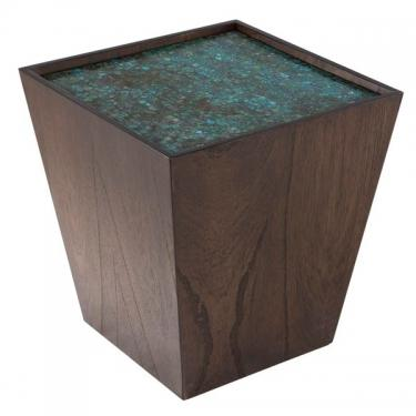 Mosaic Wooden Cube Accent Table main image