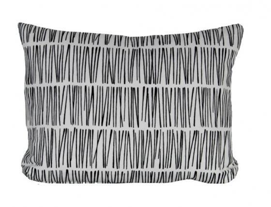 Black and White Lumbar Pillow main image