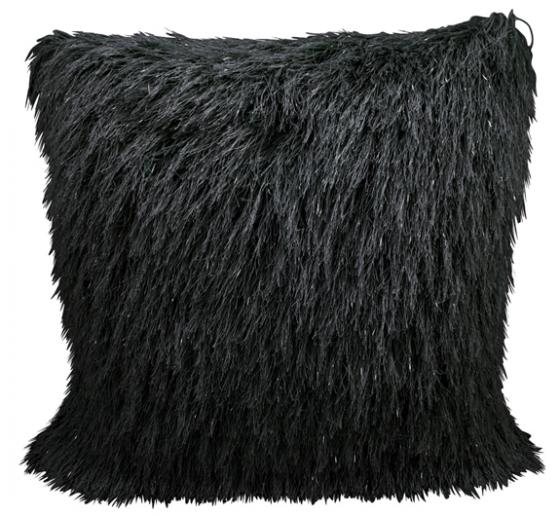 Black Sparkly Shag Pillow main image