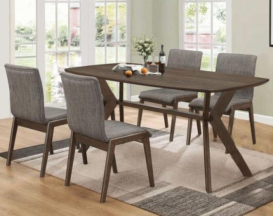 Mcbride Warm Brown Rectangular Dining Set main image