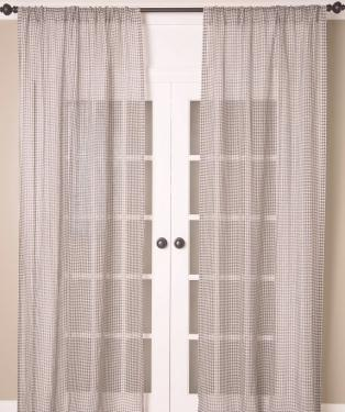 Linen Sheer Check Curtains main image