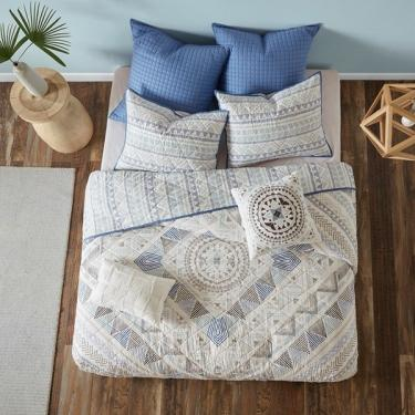 King Rochelle 7 Piece Cotton Reversible Coverlet S main image