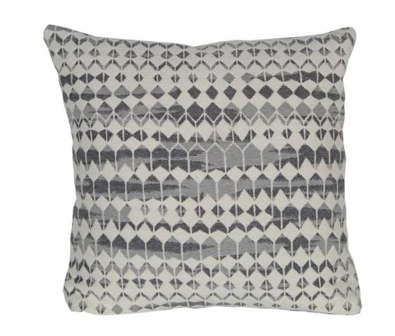 Grey and White Patterned Pillow main image