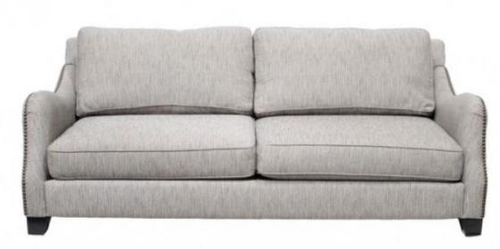 Grey Sofa With Nailhead