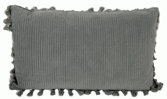 Grey Tassel Lumbar Pillow main image