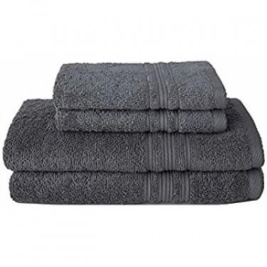 Luxe Grey Bath Towels main image