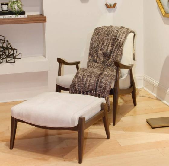 Kayla Chair and Ottoman main image