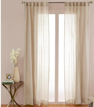 Natural Dots Curtains main image