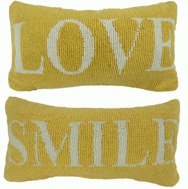 Yellow Love & Smile Pillows main image
