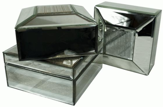 Silver Mirrored Jewelry Boxes  main image