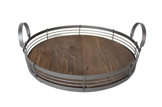 Round Wood Tray main image