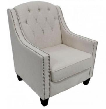 Oatmeal Arm Chair With Nailhead main image