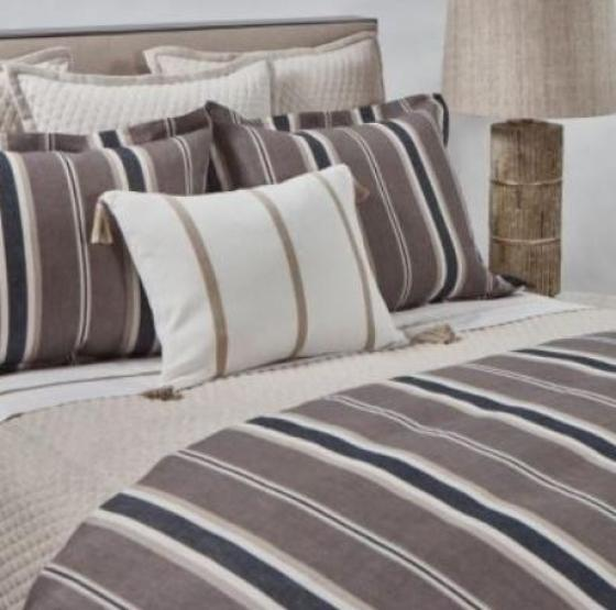 Queen Deck Stripe Duvet Set main image