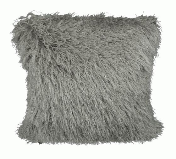 Grey Sparkly Shag Pillow main image